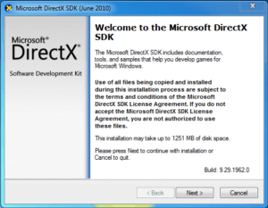 directx redistributable june 2010 free download