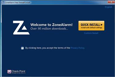 Download ZoneAlarm Free firewall